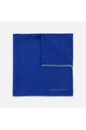 Turnbull & Asser Dark Piped Silk Pocket Square