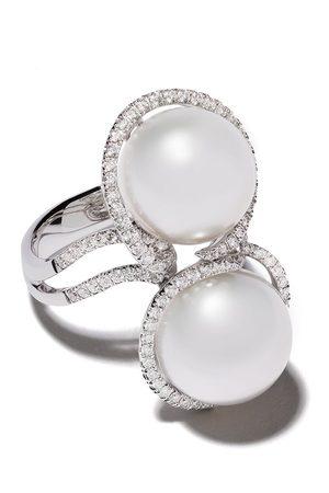Yoko London Women Rings - 18kt white gold Mayfair South Sea pearl and diamond ring