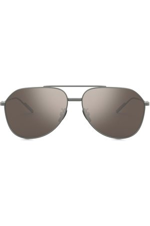 Dolce & Gabbana Mirrored aviator-frame sunglasses