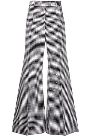 RACIL Wide leg houndstooth trousers