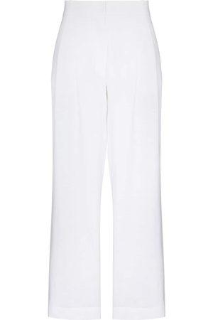ASCENO High-waist linen trousers