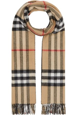 Burberry Reversible check cashmere scarf - Neutrals