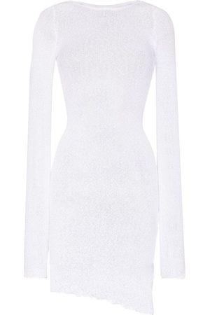 Ambra Maddalena Semi-sheer cotton mini dress