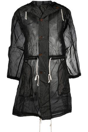 Comme des Garçons Semi-sheer mid-length raincoat