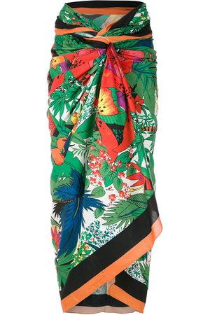 AMIR SLAMA Women Beachwear - Tropical-print sarong