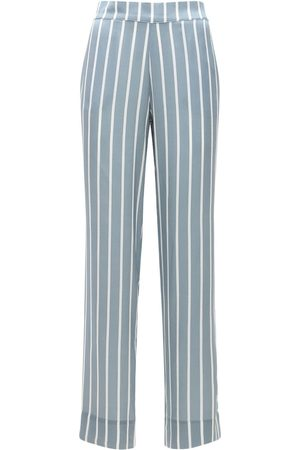 ASCENO Women Pyjamas - The London Silk Satin Pajama Bottoms