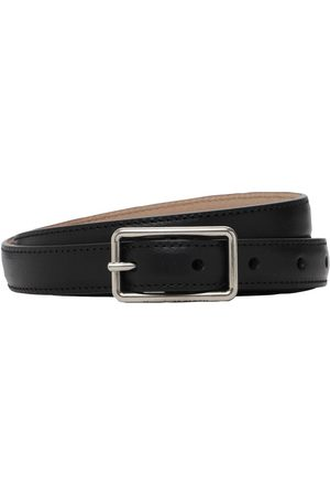 Alexander McQueen Geometric Ecolux Leather Belt