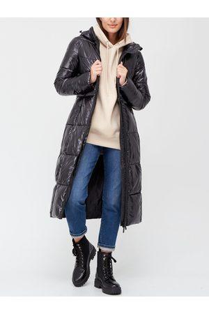 Very Women Coats - Long High Shine Padded Coat