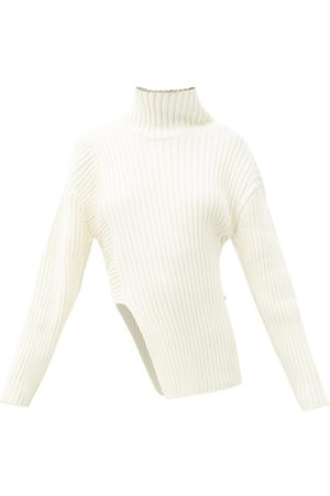 Proenza Schouler Roll-neck Asymmetric Cotton-blend Sweater - Womens