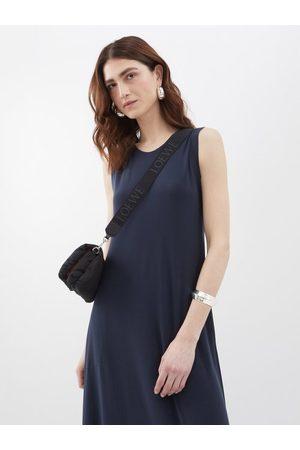 Norma Kamali Round-neck Jersey Dress - Womens - Dark