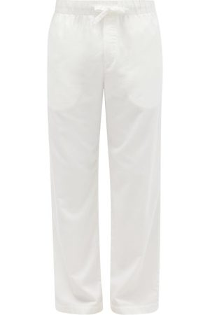 Tekla Drawstring Organic-cotton Flannel Pyjama Trousers - Mens - Cream