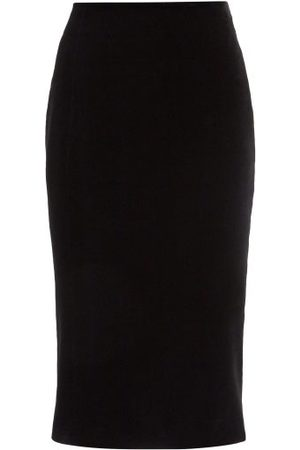 Saint Laurent High-rise Velvet Pencil Skirt - Womens