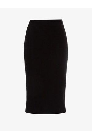 Saint Laurent Women Pencil Skirts - High-rise Velvet Pencil Skirt - Womens