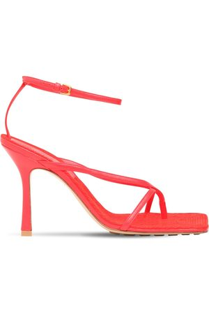 Bottega Veneta 90mm Stretch Leather Thong Sandals