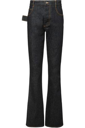 Bottega Veneta Raw Flared Jeans