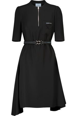 Prada Belted asymmetric minidress