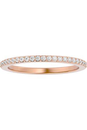 SuperJeweler 1/4 Carat Diamond Wedding Band in 14K Rose (1.70 g) (H-I, SI2-I1), Size 4