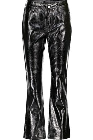J Brand Franky mid-rise leather pants