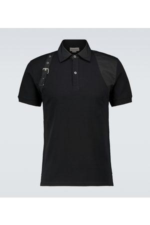 Alexander McQueen Harness short-sleeved polo shirt