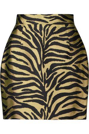 Khaite Eiko zebra-print jacquard miniskirt