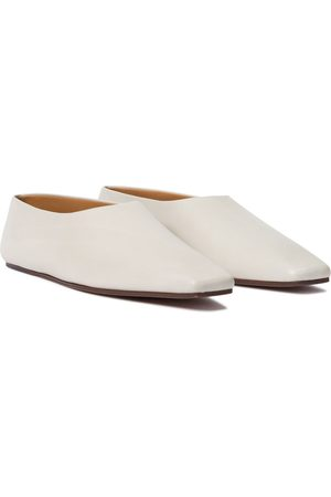 The Row Square Toe leather ballet flats