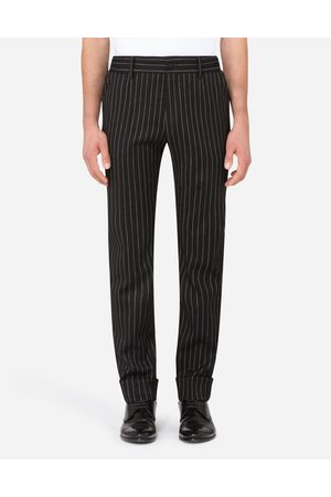 Dolce & Gabbana Trousers and Shorts - PINSTRIPE STRETCH WOOL PANTS male 46