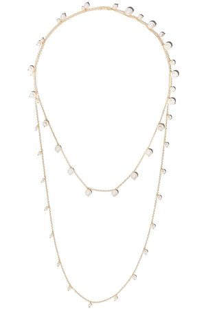 Mizuki 14kt yellow Sea of Beauty Akoya pearl long wrap chain necklace