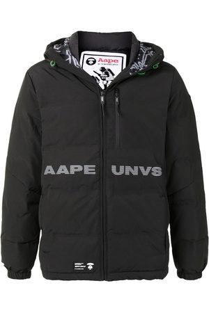 AAPE BY *A BATHING APE® Logo print hooded padded jacket
