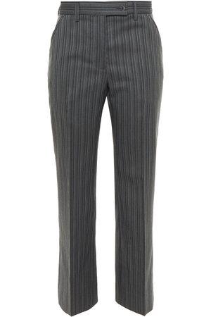 Acne Studios Woman Herringbone Wool-blend Straight-leg Pants Gray Size 34
