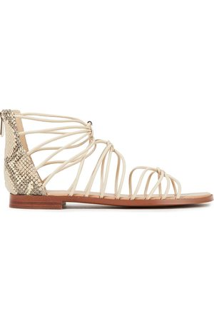 Sam Edelman Women Sandals - Woman Emi Smooth And Snake-effect Leather Sandals Size 6