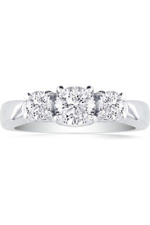 SuperJeweler 1/4 Carat Three 3 Diamond Engagement Ring in 1.4 Karat ™ (H-I, SI2-I1), Size 4