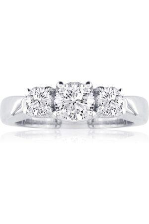 SuperJeweler 1/2 Carat Three Diamond Engagement Ring in 1.4 Karat ™, I-J, Size 3.5