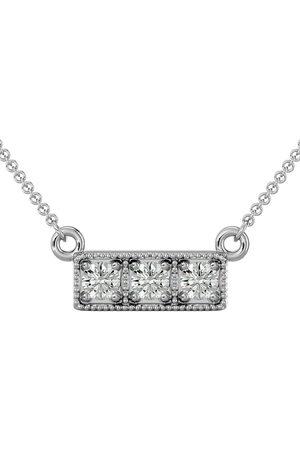 SuperJeweler 1/4 Carat Diamond Three Stone Necklace in 10K (2.50 g), 18 Inches (I-J, I1-I2)