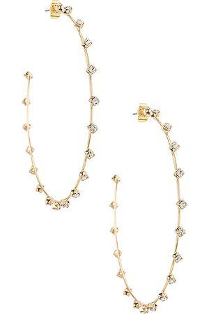 Ettika Women Earrings - Rhinestone Hoop Earrings in .
