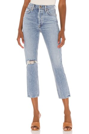 AGOLDE Riley High Rise Straight Crop in . Size 25, 26, 27, 28, 29, 30, 31.