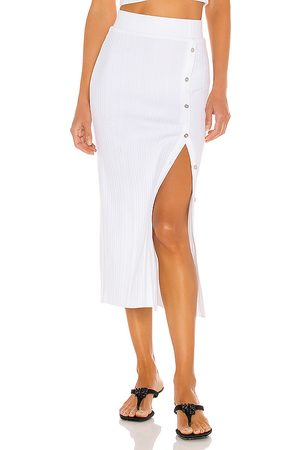 THE RANGE Wave Rib Button Up Midi Skirt in . Size S.