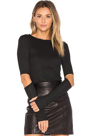 Michael Lauren Women T-shirts - Solomon Elbow Cut Out Tee in . Size XS, S.
