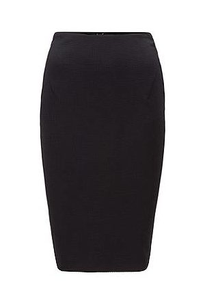 HUGO BOSS Houndstooth-jersey pencil skirt with exposed-zip detail