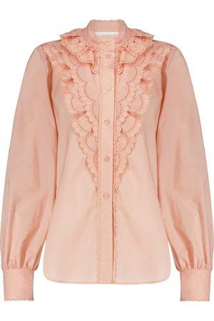 Chloé Broderie anglaise cotton blouse
