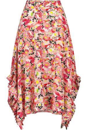 Stella McCartney Ashlyn floral silk midi skirt