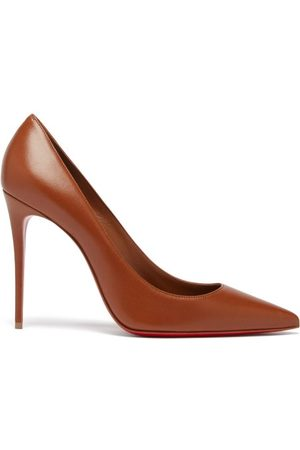 Christian Louboutin Women Heels - Kate 100 Leather Pumps - Womens - Mid Nude