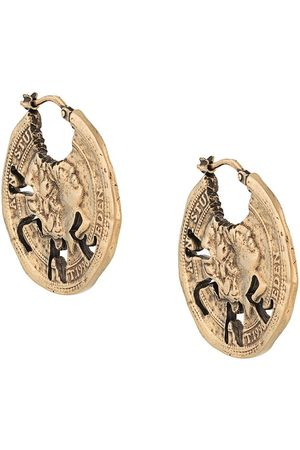 Acne Studios Earrings - Vintage coin earrings