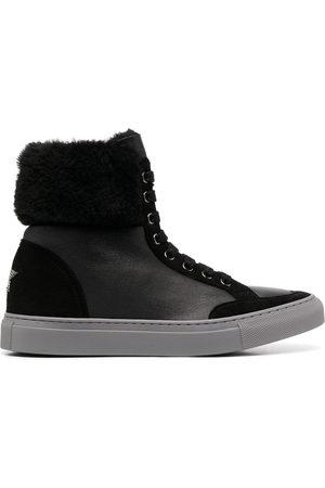 LORENA ANTONIAZZI Shearling top sneakers