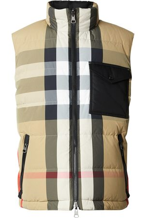 Burberry Men Body Warmers - Reversible Recycled Nylon Re:Down® Puffer Gilet - Neutrals
