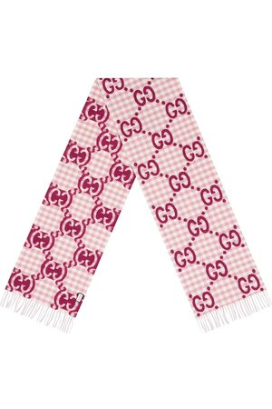 Gucci Men Scarves - GG jacquard check scarf