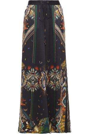 Camilla Woman Printed Silk-blend Crepon Wide-leg Pants Size L