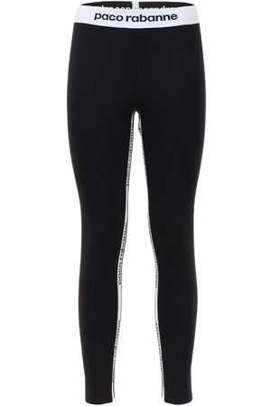 Paco rabanne Logo Band Stretch Leggings