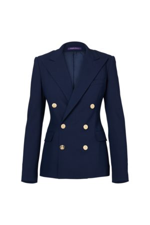 Ralph Lauren Camden Wool Crepe Jacket