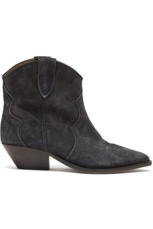 Isabel Marant Women Ankle Boots - Dewina Suede Western Ankle Boots - Womens