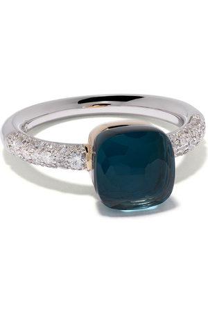 Pomellato Women Rings - 18kt white & rose gold Nudo topaz and diamond ring